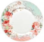 """Набор 6 обеденных тарелок """"Версаль Розы"""" Ø23см, стеклокерамика"""