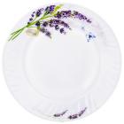 Набор 6 обеденных тарелок Лаванда Ø22.5см, стеклокерамика
