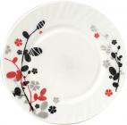 """Набор 6 обеденных тарелок """"Красное и черное"""" Ø22.5см"""