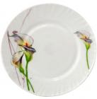 """Набор 6 обеденных тарелок """"Каллы"""" Ø22.5см, стеклокерамика"""