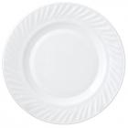 Набор 6 обеденных тарелок Infinite Tenderness Волна белые Ø23см, стеклокерамика