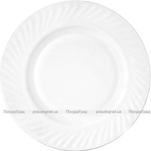 Набір 6 тарілок обідніх White Waves Ø23см, склокераміка