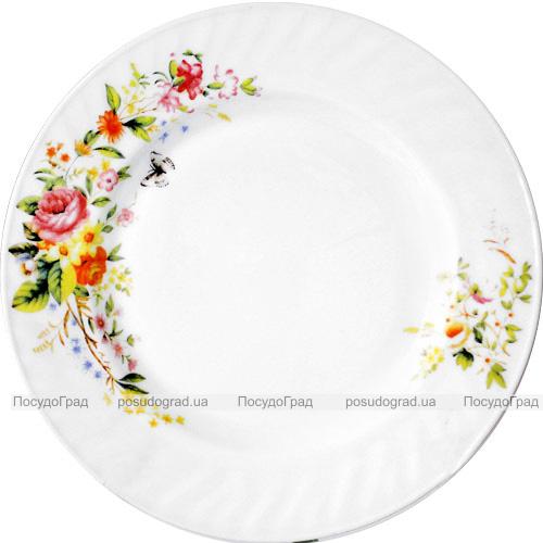 """Набор 6 тарелок обеденных""""Чайная Роза"""" Ø23см, стеклокерамика"""
