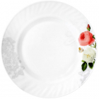 "Набір 6 тарілок обідніх ""Троянда-Бутік"" Ø23см, склокераміка"