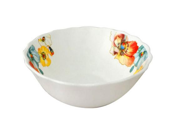 """Набор 4 салатника """"Радужный мак"""" Ø15см, стеклокерамика"""