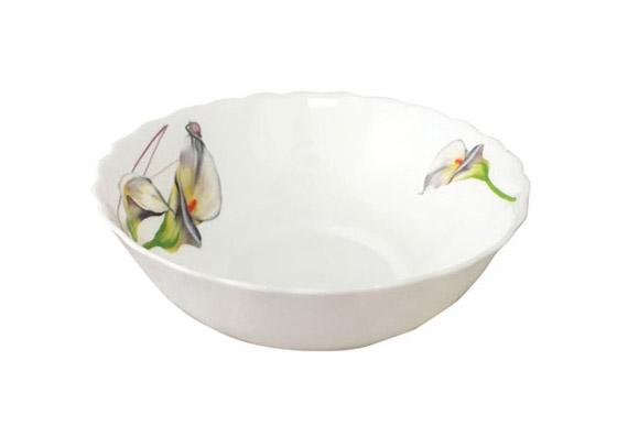 """Набор 4 салатника """"Каллы"""" Ø15см, стеклокерамика"""