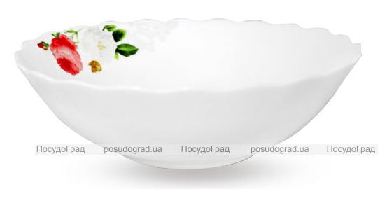 """Набор 6 салатников """"Роза-Бутик"""" Ø15см (460мл), стеклокерамика"""