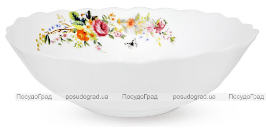 """Набор 6 салатников """"Чайная Роза"""" Ø17.5см (630мл), стеклокерамика"""