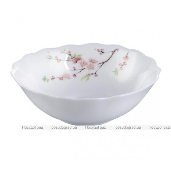 "Набор 4 салатника ""Японская Вишня"" Ø18см, стеклокерамика"