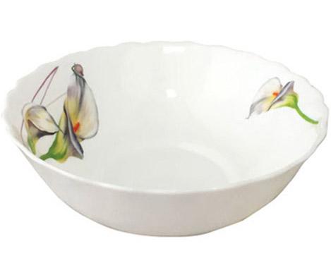"""Набор 4 салатника """"Каллы"""" Ø20см, стеклокерамика"""