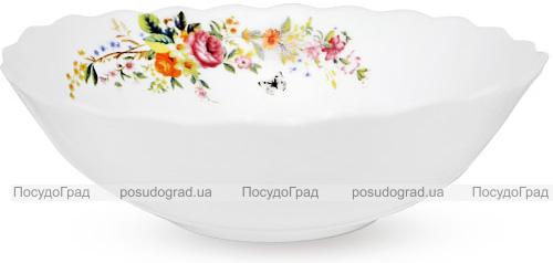 """Набор 6 салатников """"Чайная Роза"""" Ø20см (900мл), стеклокерамика"""