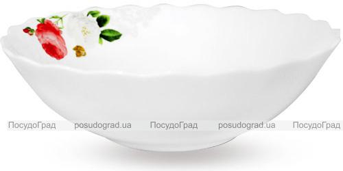 """Набор 6 салатников """"Роза-Бутик"""" Ø20см (900мл), стеклокерамика"""