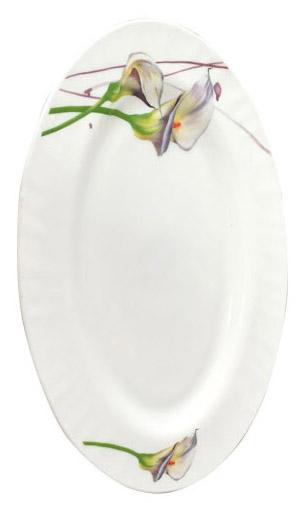 """Набор 2 блюда овальных """"Каллы"""" 30см, стеклокерамика"""