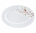 Набор 2 блюда овальных Японская Вишня Ø30см, стеклокерамика