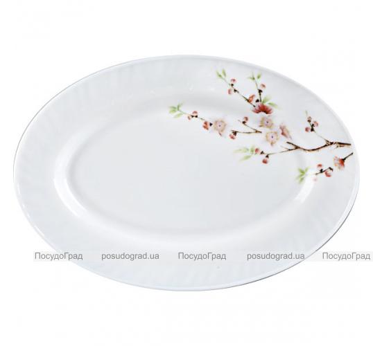 """Набор 2 блюда овальных """"Японская Вишня"""" Ø30см, стеклокерамика"""