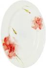 Блюдо овальное Цветочная акварель 35.5см, стеклокерамика