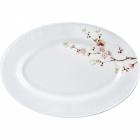 """Набор 2 блюда овальных """"Японская Вишня"""" Ø35.5см, стеклокерамика"""