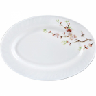 """Набір 2 блюда овальних """"Японська Вишня"""" Ø35.5см, склокераміка"""