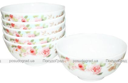 """Набор 6 салатников """"Версаль Розы"""" Ø11.5см, стеклокерамика"""