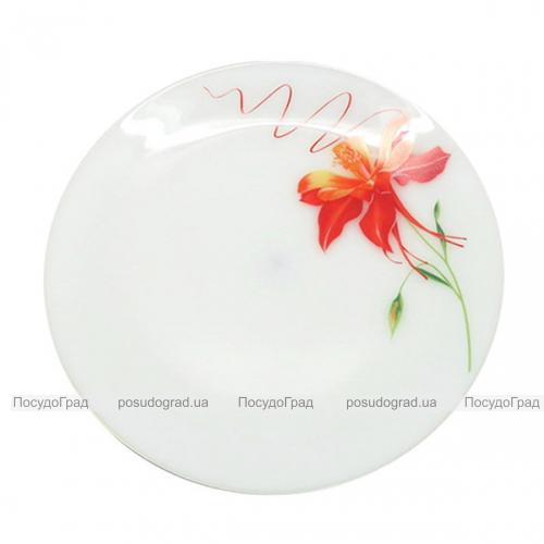 """Набор 6 десертных тарелок """"Тигровая Лилия"""" Ø18см, стеклокерамика"""