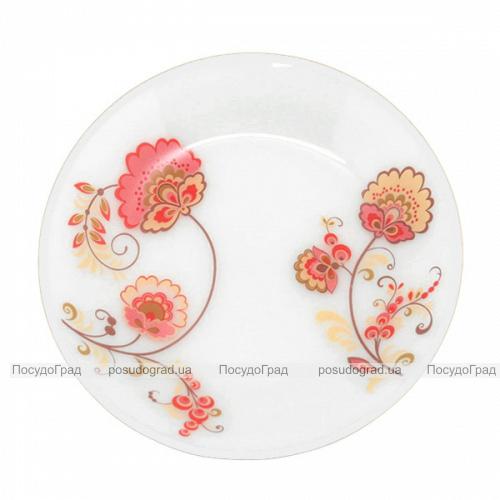 """Набор 6 десертных тарелок """"Мальва"""" Ø18см, стеклокерамика"""