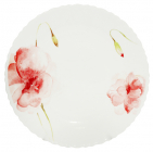 """Набір 6 обідніх тарілок """"Квіткова акварель"""" Ø21.5см, склокераміка"""