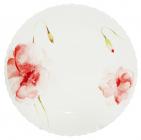 """Набор 6 обеденных тарелок """"Цветочная акварель"""" Ø21.5см, стеклокерамика"""