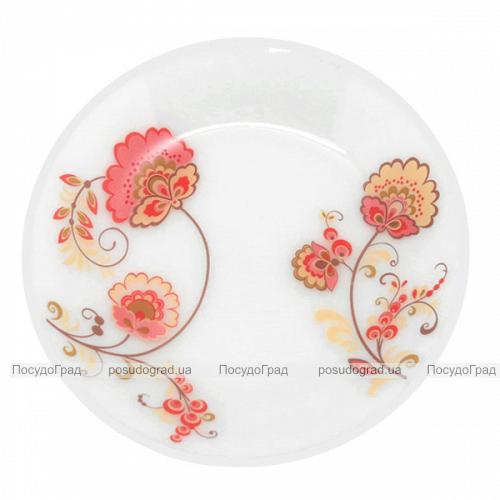 "Набор 6 мелких тарелок ""Мальва"" Ø20см, стеклокерамика"