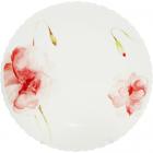 Набор 6 подставных тарелок Цветочная акварель Ø24.5см, стеклокерамика