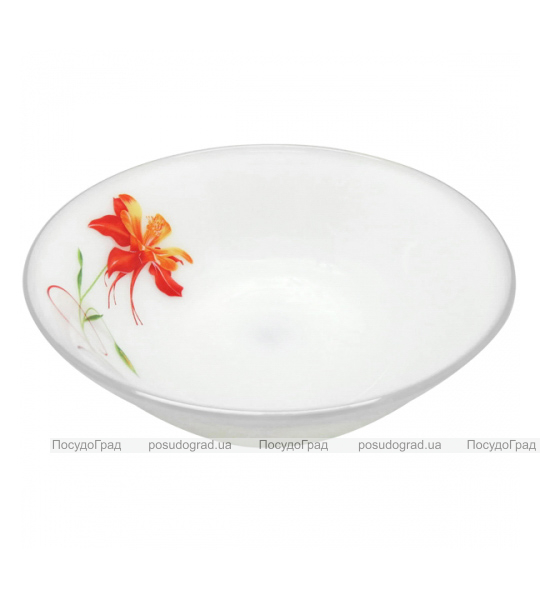 "Набор 6 тарелок для первого ""Тигровая Лилия"" Ø16см, стеклокерамика"