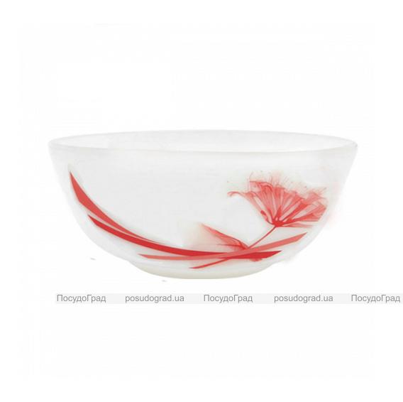 """Набор 4 салатника """"Фуксия"""" Ø14см, стеклокерамика"""