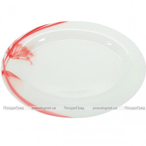 """Набор 2 блюда овальных """"Фуксия"""" Ø31.5см, стеклокерамика"""