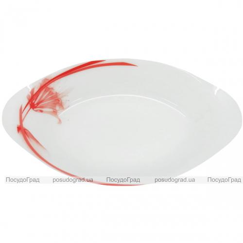 """Набор 2 салатника овальных """"Фуксия"""" Ø29см, стеклокерамика"""