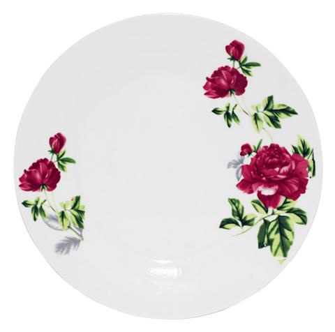 """Набор 6 десертных тарелок """"Цветущий Пион"""" Ø19см, фарфор"""