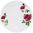"Набор 6 обеденных тарелок ""Цветущий Пион"" Ø22.5см, фарфор"