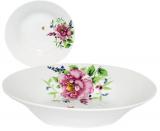 """Набір 6 супових тарілок """"Літній Сад"""" Ø20см, фарфор"""