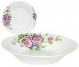 """Набір 6 супових тарілок """"Чарівна Троянда"""" Ø20см, фарфор"""