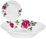 """Набор 6 суповых тарелок """"Цветущий Пион"""" Ø20см, фарфор"""