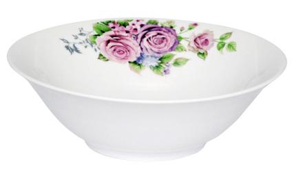 """Набор 6 салатников """"Волшебная Роза"""" Ø18см, фарфор"""