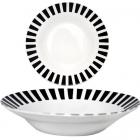 """Набір 6 супових тарілок """"Зебра"""" Ø20.5см, кераміка"""