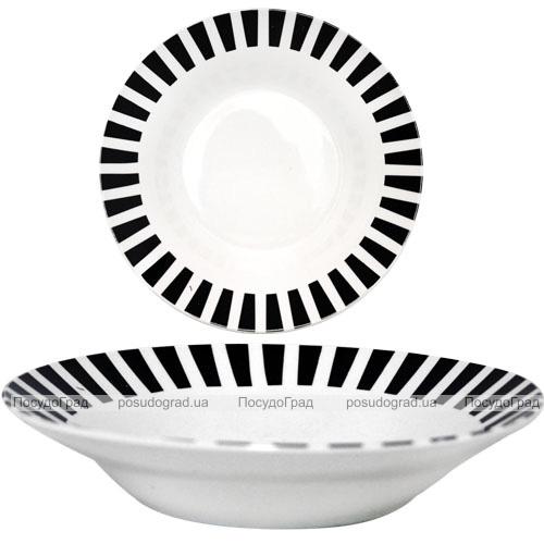 """Набор 6 суповых тарелок """"Зебра"""" Ø20.5см, керамика"""