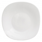 Набір 6 десертних тарілок Infinite Tenderness білі 20.5см, склокераміка