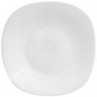 Набор 6 обеденных тарелок Infinite Tenderness белые 25.5см, стеклокерамика