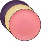 Набор 6 тарелок Coloured Ceramics Ø20см, плоские