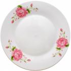 """Набор 6 мелких тарелок """"Розовая роза"""" Ø23см"""