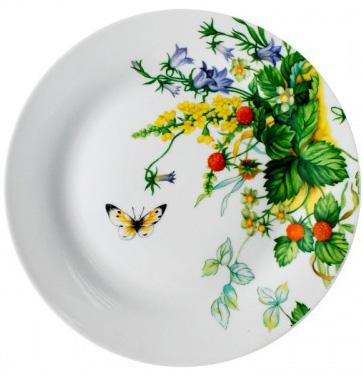 """Набор 6 мелких тарелок """"Лесная поляна"""" Ø23см"""