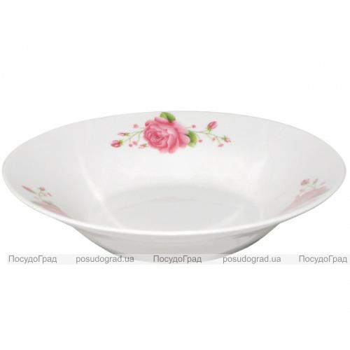 "Набор 6 суповых тарелок ""Розовая роза"" Ø20.5см"