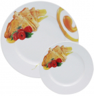 Набір тарілок для млинців Pancakes Мед, блюдо Ø27см і 6 тарілок Ø20см