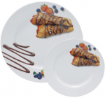 Набор тарелок для блинов Pancakes Шоколад, блюдо Ø27см и 6 тарелок Ø20см
