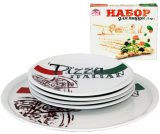 Набір тарілок для піци Napoli Італіан, блюдо Ø30см і 4 тарілки Ø20см